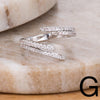 Contemporary Micro Pave Rings