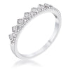 .14Ct Rhodium Plated CZ Mini Crown Stackable Band