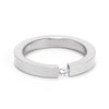 3MM Stainless Steel Floating Solitaire Ring