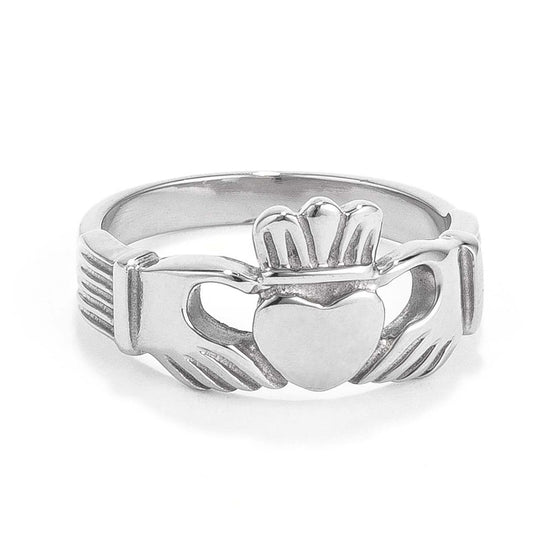 Stainless Steel Irish Claddagh Ring