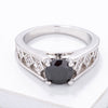 Textured Antique Black CZ Fashion Ring