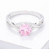 Simply Beautiful Twisted Pink CZ Ring