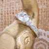 Doorbuster Classic Mini Oval Clear CZ Ring