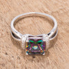Doorbuster Princess Cut Simulated Mystic Topaz CZ Ring