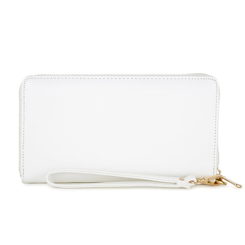 Martha White Faux Leather Clutch