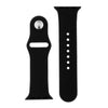 Classic Black Silicone Sports Watch Band 38mm