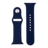 Navy Blue Silicone Sports Watch Band 38mm