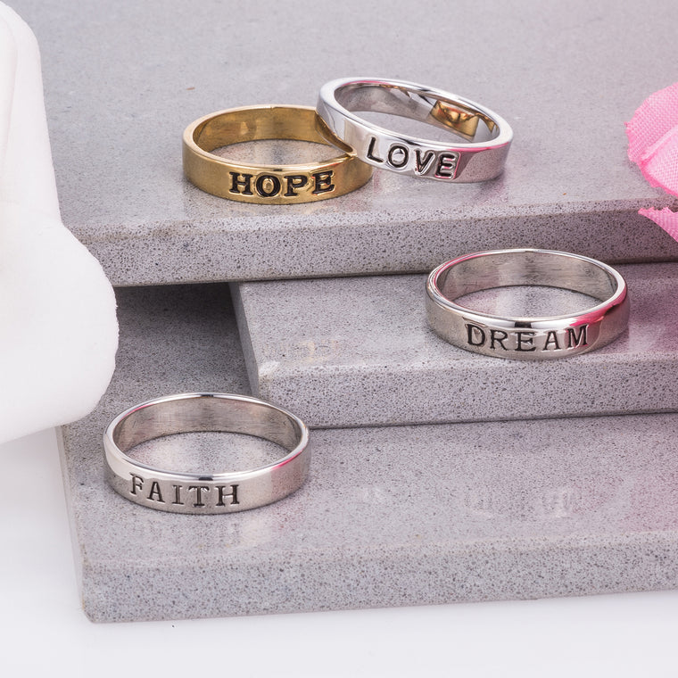 Inspirational Stackable Rings