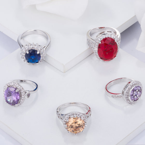 Unique & Colorful Cocktail Rings