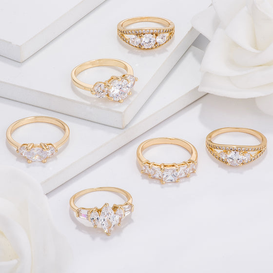 Classic Gold Engagement Rings