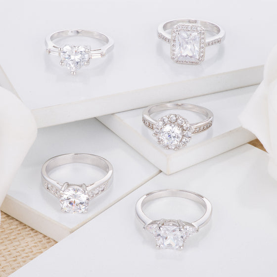 Clear Simple Engagement Rings