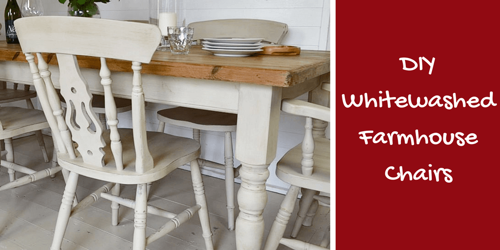 DIY: How To White Wash Dining Chairs for a Rustic Farmhouse Look