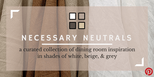 Color Trend: Necessary Neutrals