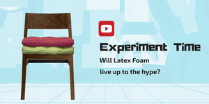 Experiment Time - We test how much poly fiber fill cushions flatten over time vs latex foam cushions [Youtube Video]