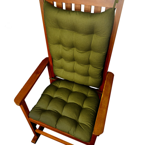 Fathers Day Giveaway Cotton Duck Pine Rocking Chair Cushions