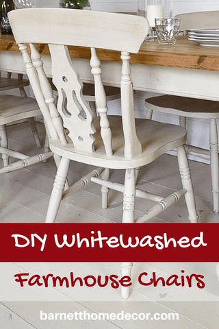 DIY Whitewashed Farmhouse Chairs