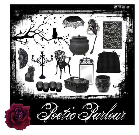 Poetic Parlour Ft. Micro-Suede Black Dining Chair Cushions in Black