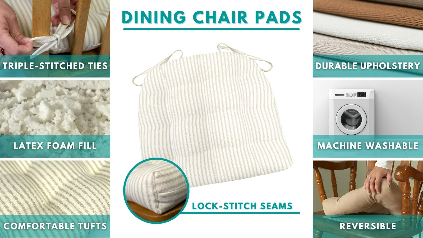 featured of barnett home decor dining chair cushions