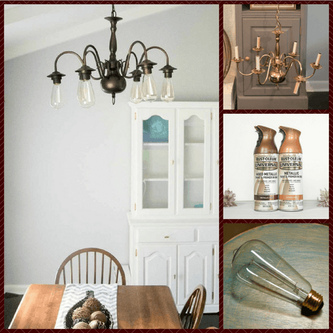 love your dining room chandelier makeover