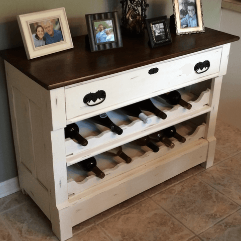 love your dining room diy dresser to wine rack