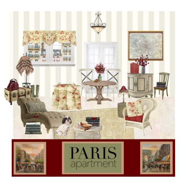 Paris Apartment Ft. Chablis Rose Dining Chair Pads