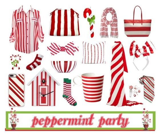 Peppermint Part Ft. Sea Shore Stripe Dining Chair Pads in Red