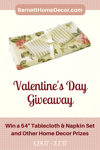 Barnett Home Decor Valentine's Day Giveaway Pinterest