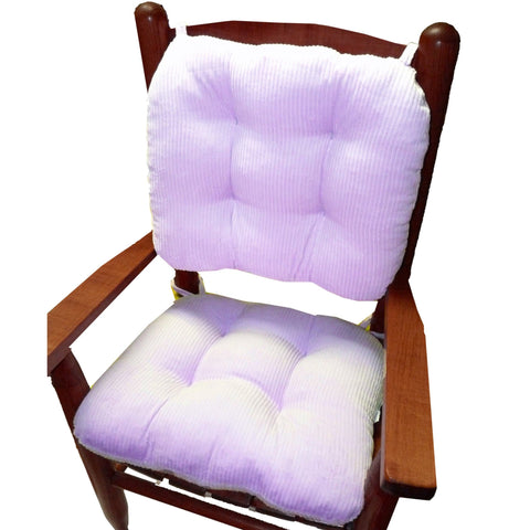 Child Rocking Chair Cushions - Lavender Corduroy - Made in USA - Machine Washable