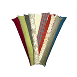 Assorted Colors, Patterns, and Fabrics Breeze Blocker Draft Stopper Noodle Pillow