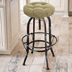 Corduroy Pinwale Beige Bar Stool Cover with Adjustable Yoke