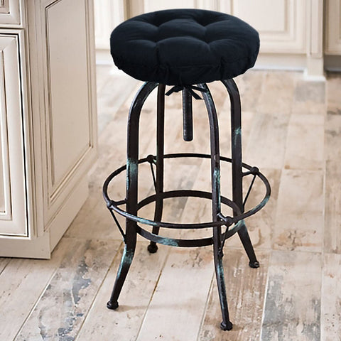Rave Indigo Blue Bar Stool Cover with Cushion and Adjustable Drawstring Yoke - Indoor/Outdoor