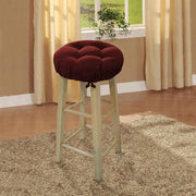 Cotton Duck Wine Red Barstool Cover with Cushion and Adjustable Yoke