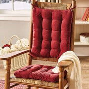 Corduroy Pinwale Garnet Red Rocking Chair Cushions - Latex Foam Fill - Reversible