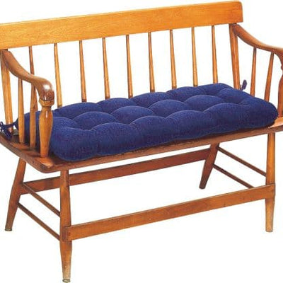 Pinwale Corduroy Navy Blue Bench Cushion - Latex Foam Fill - Reversible