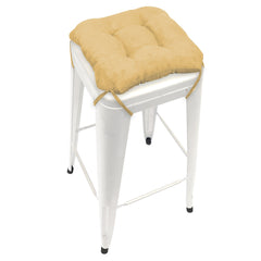 Micro-suede Camel Square Industrial Bar Stool Cushion - 12""