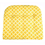 Hockley Yellow Geometric Patio Chair Cushions | Barnett Home Decor