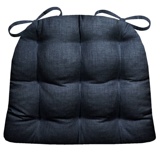 Rave Indigo Blue Indoor / Outdoor Dining Chair Cushions & Patio Chair Cushions | Dark Blue | Midnight Blue
