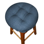 Rave Pacific Blue Bar Stool Cover with Cushion and Adjustable Drawstring Yoke - Indoor/Outdoor