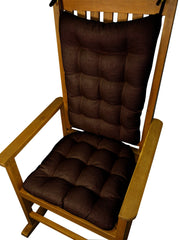 Rave Chocolate Brown Indoor/Outdoor Rocking Chair Pads - Barnett Home Decor -  Brown