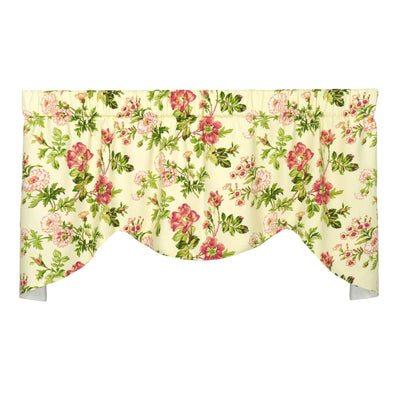 Farrell Pink Mini M Valance Window Treatment - Floral
