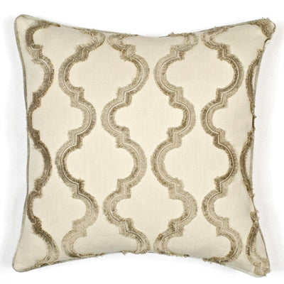 "Cafe Fringe Feather Throw Pillow with Removable Cover - 20"" Square"