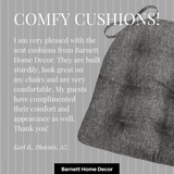 Hayden Pewter Grey Dining Chair Cushion Testimonial