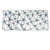 Barnett SS Starfish Navy Blue White Cafe Valance Window Treatment