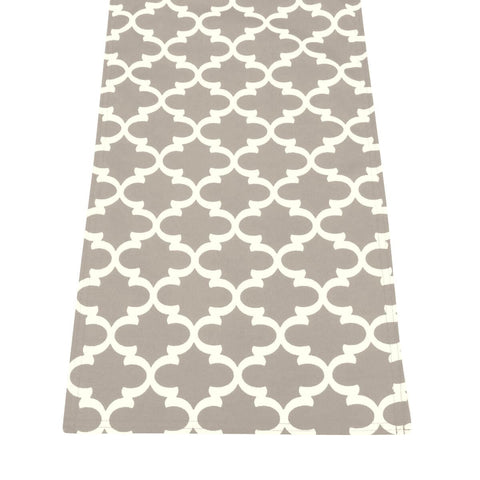 Fulton Ogee Grey Rectangle Runner | Barnett Home Decor