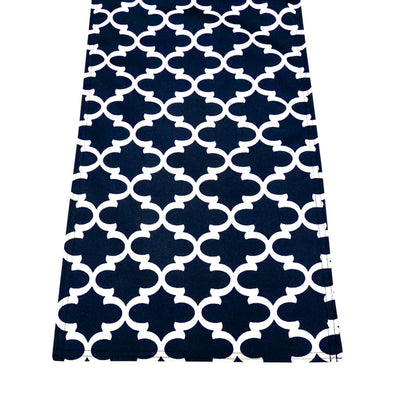 Fulton Ogee Navy Blue Rectangle Runner | Barnett Home Decor