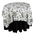 "Eugene Table Cloth - 52"" Square - Black"