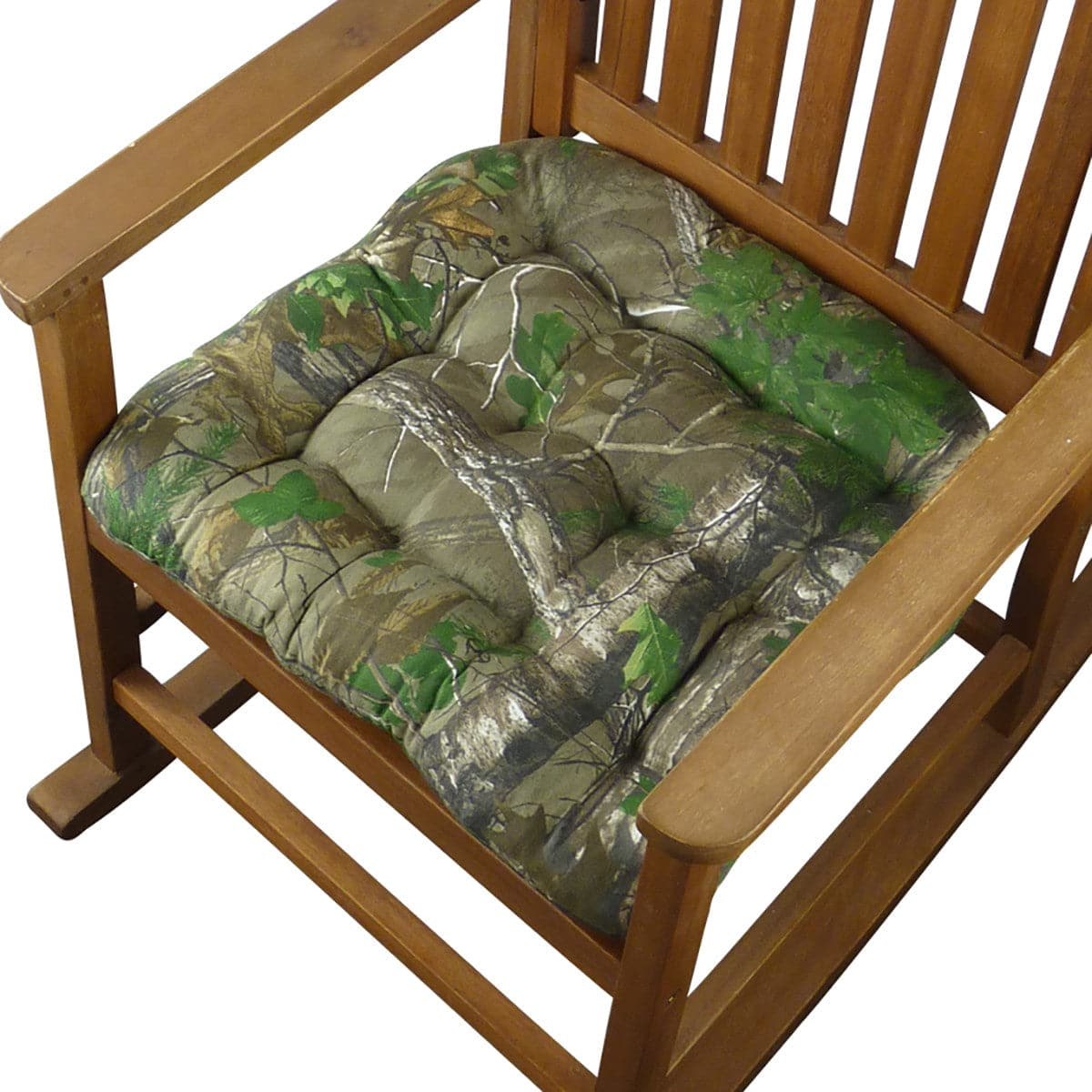 ... Realtree Xtra Green (R) Camo Rocking Chair Cushions   Latex Foam Fill    Reversible ...