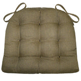 Madrid Black & Tan Gingham Dining Chair Pad - Barnett Home Decor