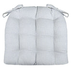 Madrid Lake Blue Gingham Dining Chair Cushions - Barnett Home Decor - Blue & White