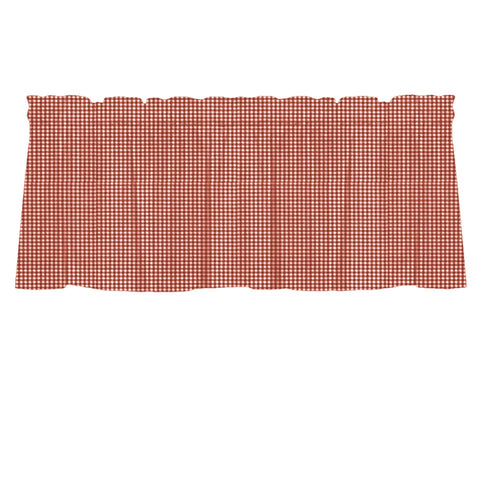 Madrid Red Gingham Cafe Valances - Straight Tailored Window Treatments